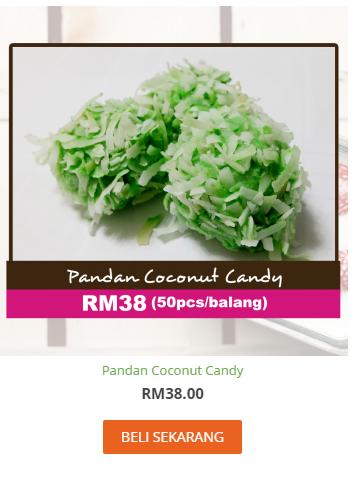 Pandan Coconut Candy