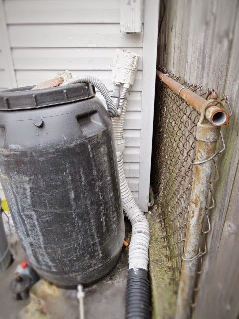 downspout repair replace rain barrel