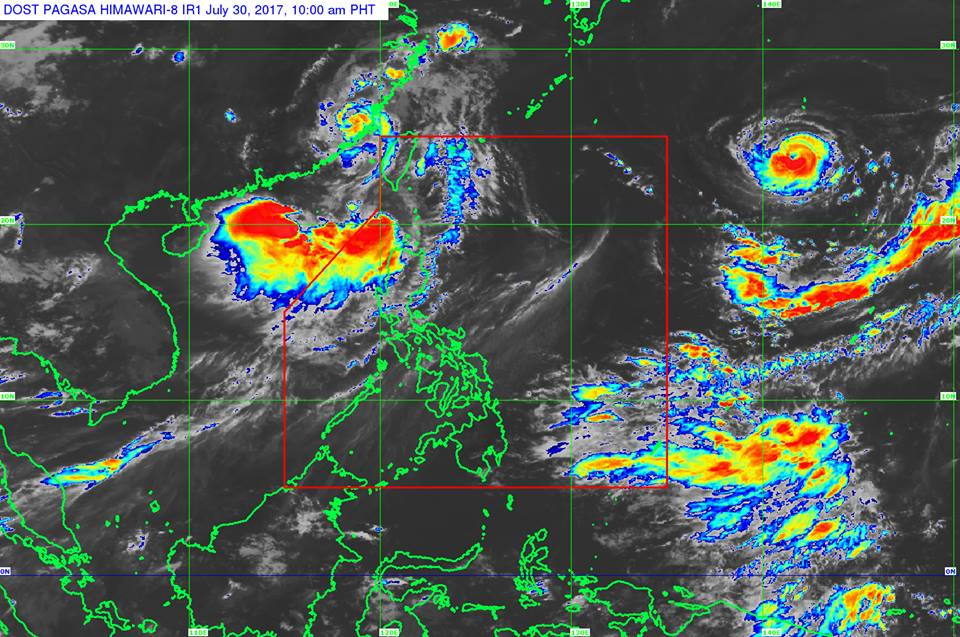 'Bagyong Huaning' PAGASA weather update July 30, 2017
