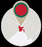 Bangladeshi flag and map