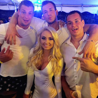Rob Gronkowski with  DJ Brooke Evers