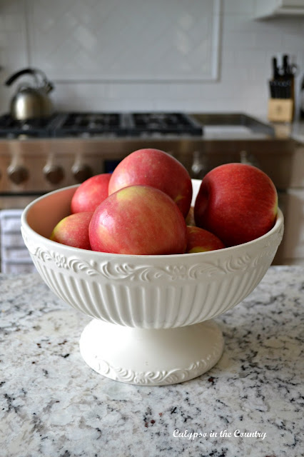 Bowl of Apples for Fall Decorating