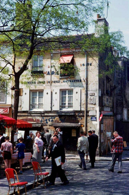 Color Photographs of Paris in the 1960s  vintage everyday