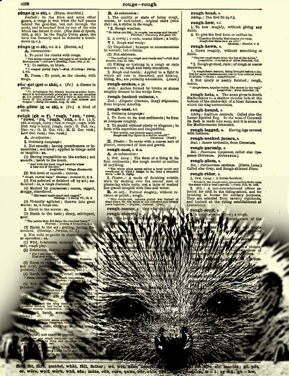 05-Hedgehog-Belle-Old-Books-and-Dictionaries-in-Re-Imagination-Prints-www-designstack-co