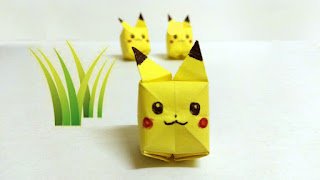 pokemon origami pikachu sticky note