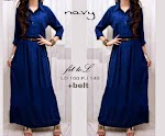 Gamis Rayon Navy GC2540 HABIS