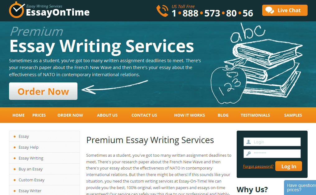 Essay-On-Time.com Essay Writing Service Picture