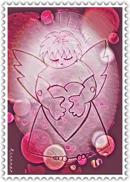 Сердечный ангел к дню влюбленных Красивые открытки бесплатно для вас / Beautiful postcards are free for you, p_i_r_a_n_y_a