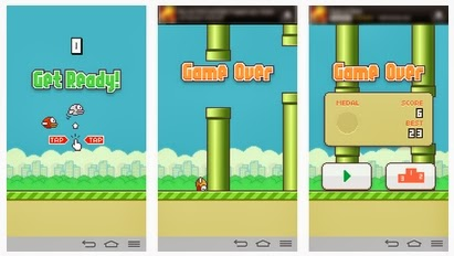 Gameplay Flappy Bird 1.3