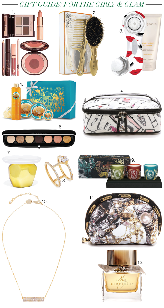 Christmas & Holiday Gift Guide: For the Girly & Glam // A Style Caddy
