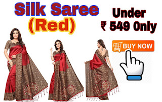 SILK SAREE (RED) UNDER 549