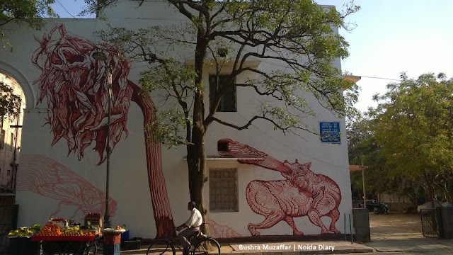 Noida Diary: A Tiger in Gond Art Form