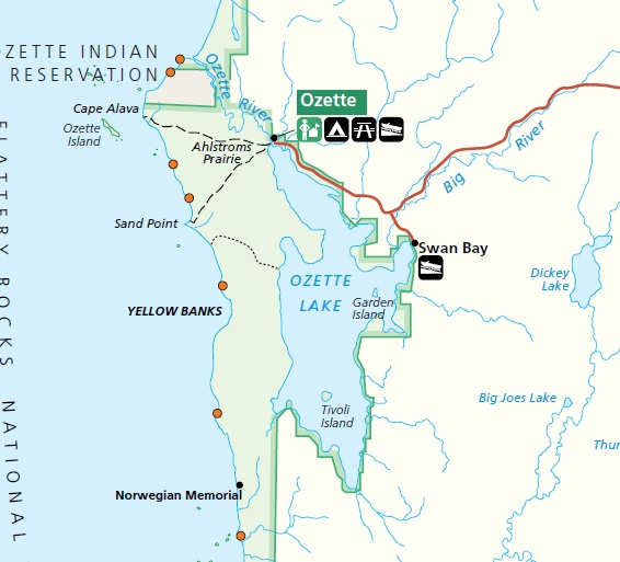 National Forest Rain Map Washington Parks