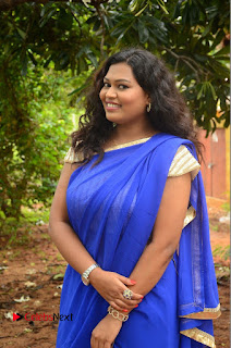 Actress Maggi Meghna Pictures in Saree at Lovers Park Movie Opening  0013.JPG