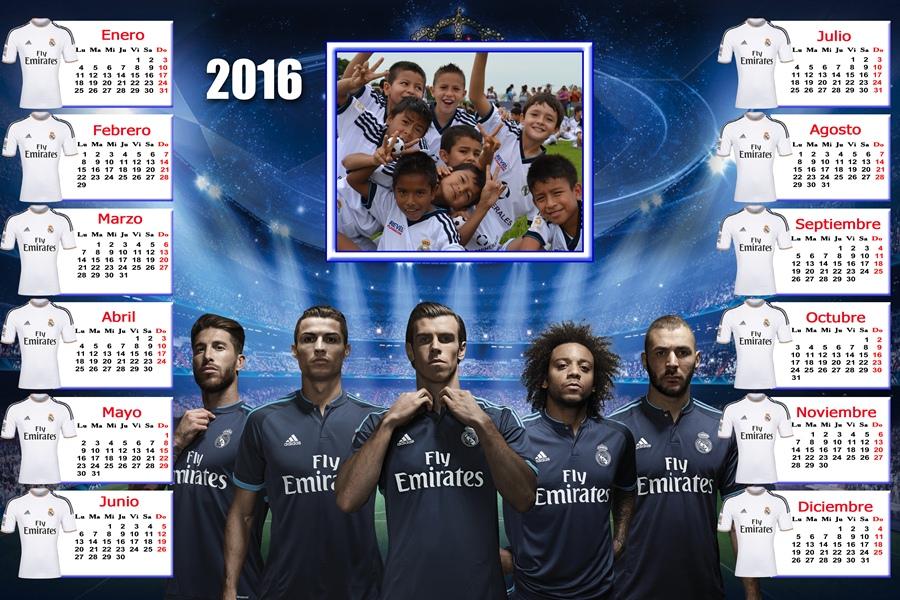 Calendarios para Photoshop: Calendario para el 2016 del Real Madrid ...