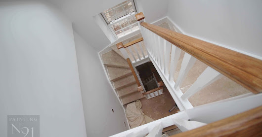Rectory Staircase Painted - Loft Extension