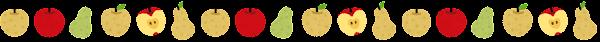 リンゴと梨と洋梨のライン素材