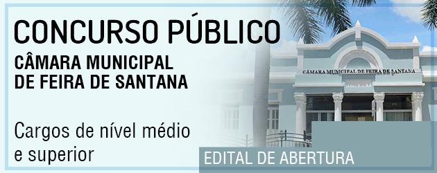 Concurso Câmara de Feira de Santana 2018