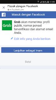 Grab tidak bisa login