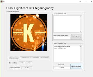 ekstraksi pesan pada stego-image berhasil