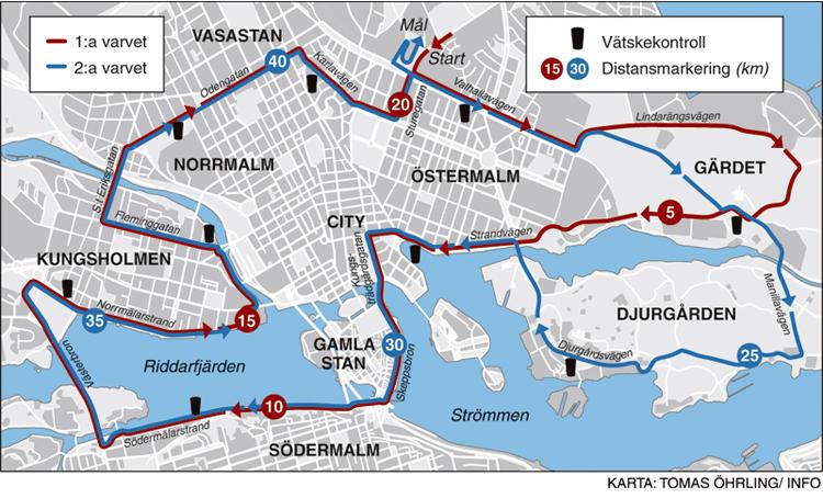 kart over stockholm Lettbent: Stockholm Marathon 2015   Helter i regnet kart over stockholm