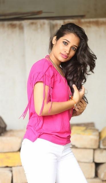 Santoshi Sharma Latest Hot Glamourous Spicy Pink Tops PhotoShoot Images At Ramasakkanodu Movie Launch