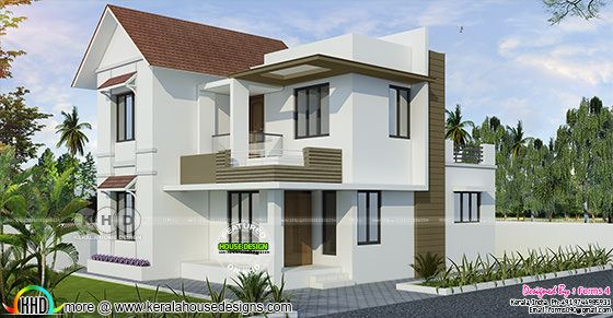 3 cent plot, Below 20 Lakhs 3 Bedroom home design