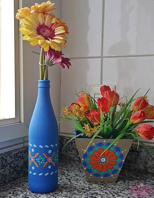 Artesanato com garrafa