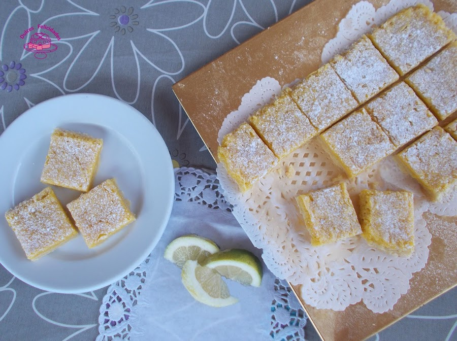 Lemon bars (barritas de limón)