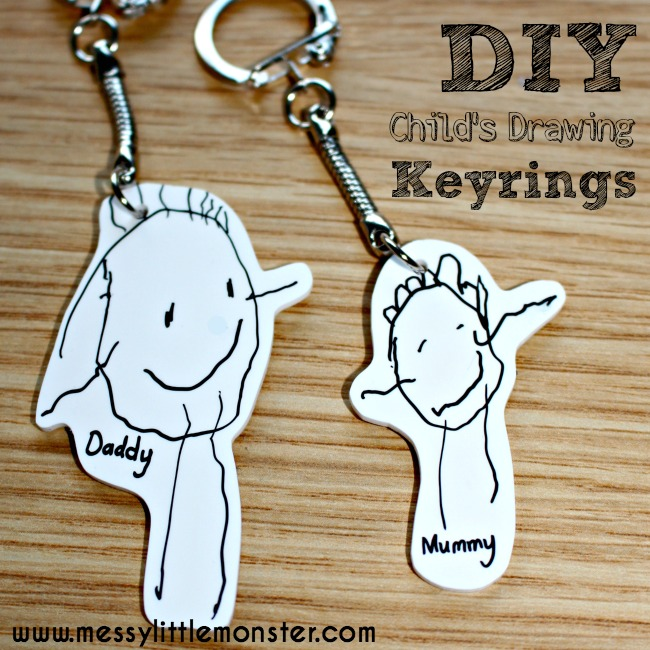 Shrinky Dinks Keyring - Messy Little Monster 0a41a9944a7f