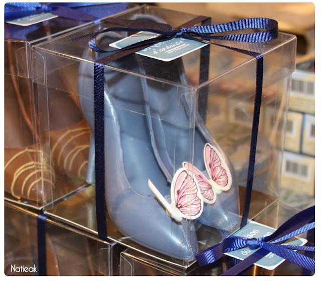 escarpin bleu de Quernons d'Ardoise