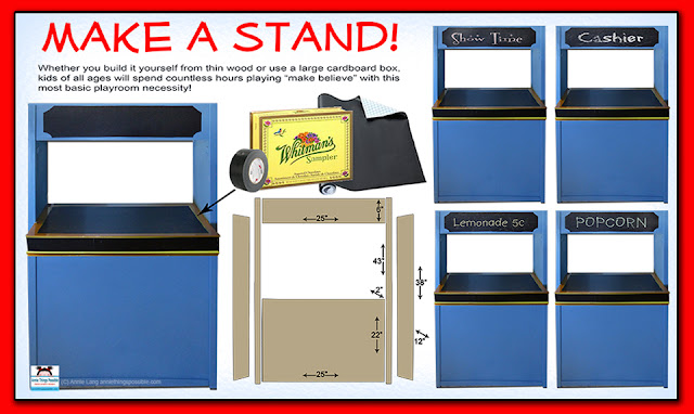 Make a kid's stand with a few basic supplies and a little imagination!