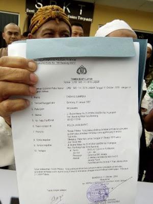 Bukti laporan ormas Islam Jabar ke Polda Jabar tentang penistaan agama oleh Ahok.