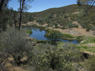 Small blue lake near the summit.