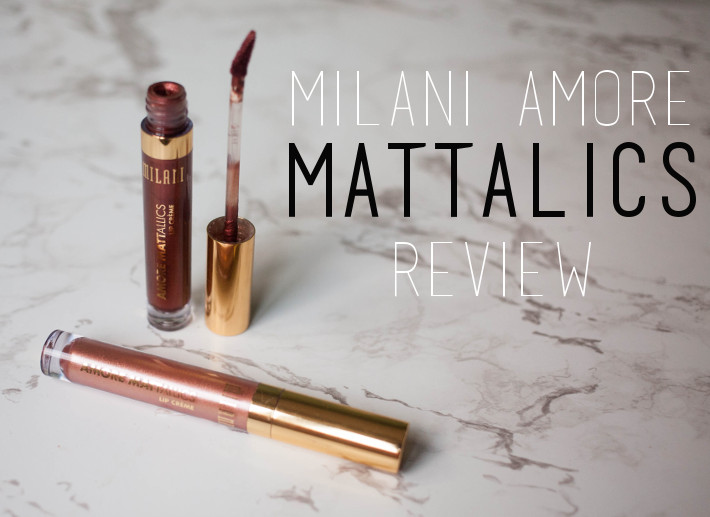 Metallic lipstick: Milani Matterialistic and Chromatic Addict swatches and review