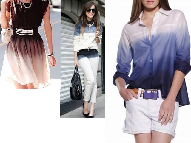 9ec26bc88c Alinhavos de Moda - Moda Criativa  Tingir roupa branca  Efeito ...