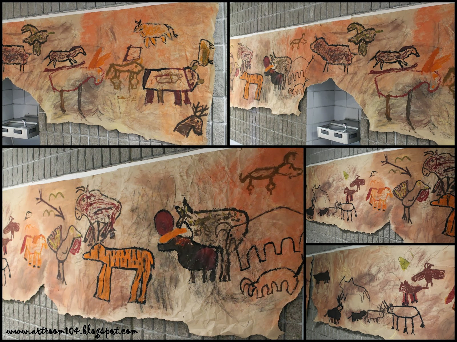 Art Room 104 6th Grade Prehistoric Cave Art