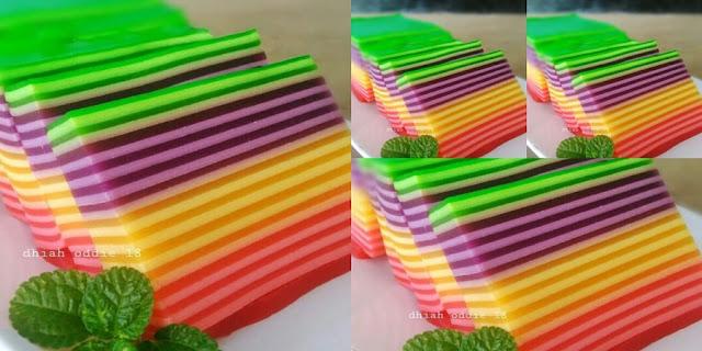 Cara Terbaru Membuat Kue lebaran Lapis Pelangi.