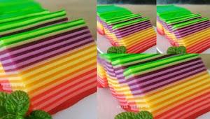 Cara Terbaru Membuat Kue Lapis Pelangi Enak Dan Cantik.