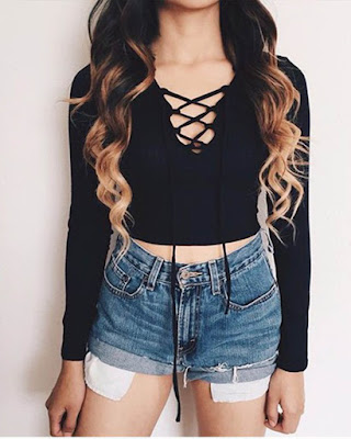 outfit informal lace up juvenil tumblr
