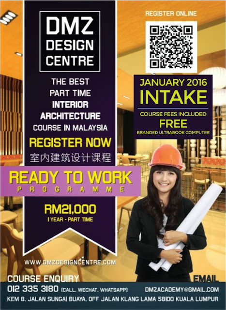 REGISTER NOW - PART-TIME INTERIOR ARCHITECTURE COURSE