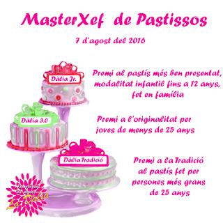 #ladaliademaspujols, Associació de Dones La Dàlia de Maspujols, concurs de pastissos, masterxef, masterchef, pastís, La Dalia, La Dàlia, Festa Major, 2016