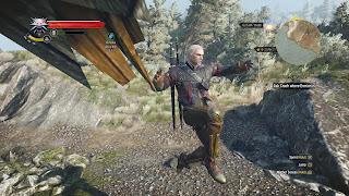 Geralt from Witcher 3 doing a short hop.