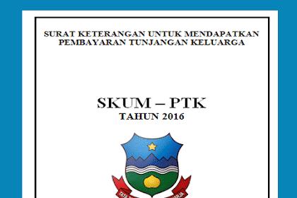 Contoh Formulir SKUMPTK Plus Cover lengkap dengan Persyaratannya
