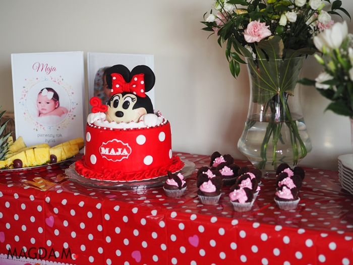 Urodziny z motywem Myszki Minnie