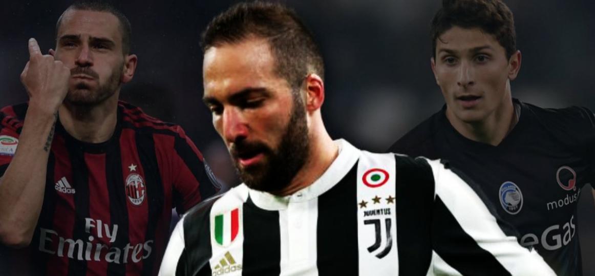 Calciomercato Juventus: Torna Bonucci dal Milan in cambio di Higuain e Caldara