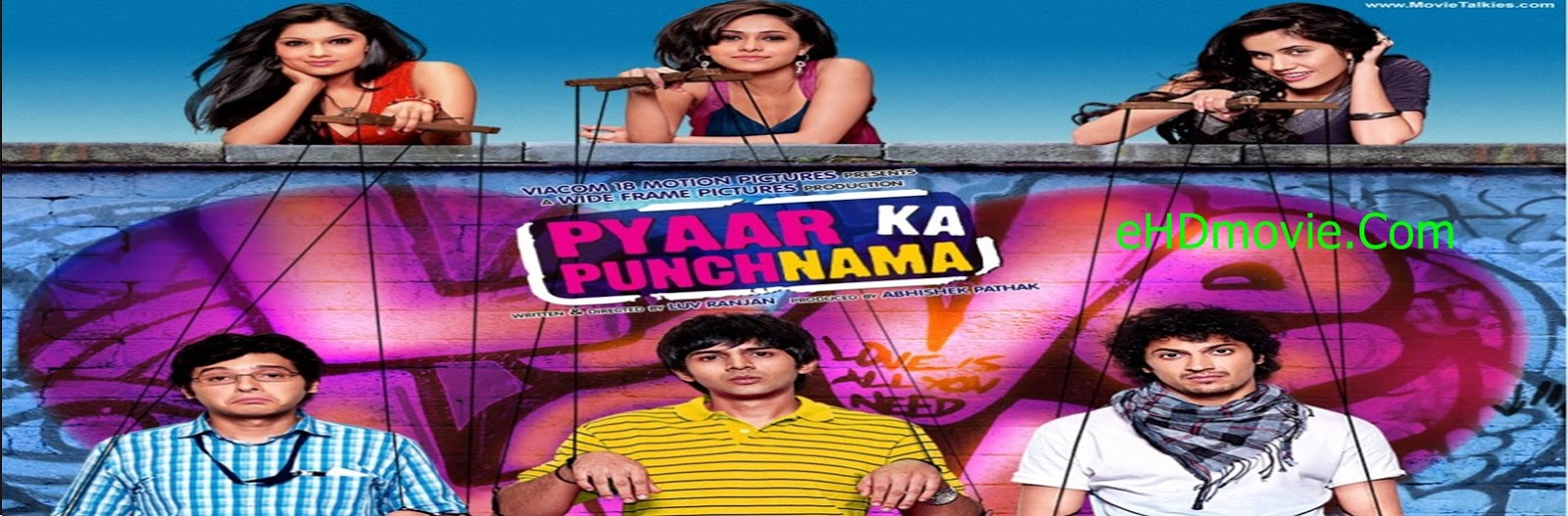 Pyaar Ka Punchnama 2011 Full Movie Hindi 720p - HEVC - 480p ORG BRRip 400MB - 650MB - 1.2GB ESubs Free Download