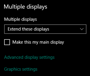 Make this my main display Windows 10