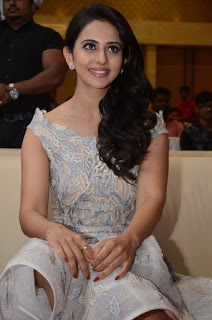 Rakul Preet Singh in beautiful Sleeveless Designer dress at Khakee movie Audio Launch