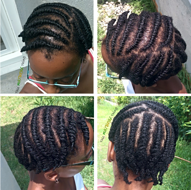 Quick flat twist for a defined twist out in Summer